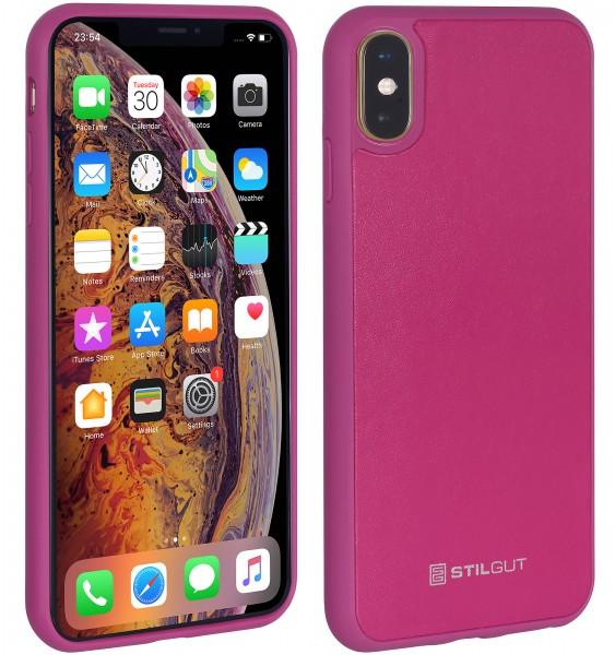 StilGut - iPhone X Case mit Lederrückseite