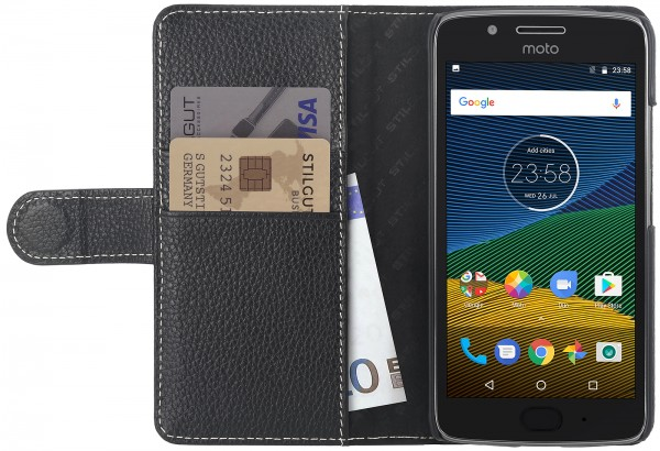 StilGut - Moto G5 Hülle Talis mit Kreditkartenfach