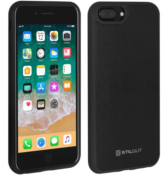 StilGut - iPhone 8 Plus Case mit Lederrückseite