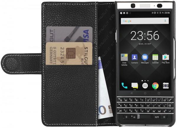 StilGut - BlackBerry KEYone Hülle Talis mit Kreditkartenfach