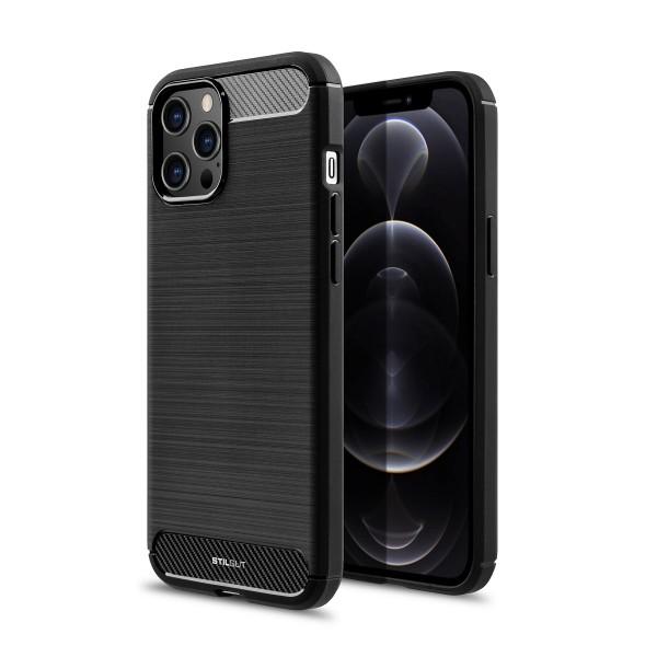 StilGut - iPhone 12 Pro Max TPU Hülle Carbon