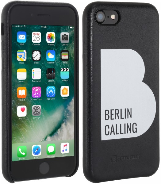 StilGut - iPhone 7 Cover Berlin Calling aus Leder - Like Berlin Edition