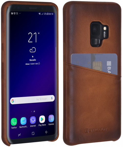 StilGut - Samsung Galaxy S9 Cover mit Kartenfach