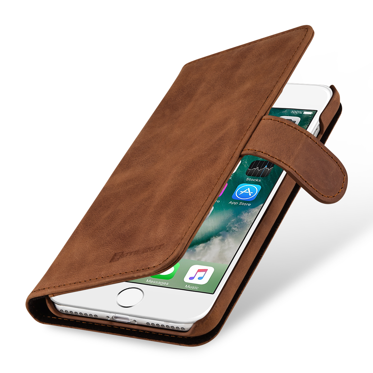 StilGut iPhone 8 Plus Hülle Talis mit Kreditkartenfach