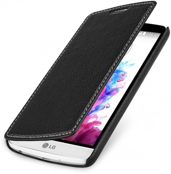 """StilGut - Handyhülle für LG G3 Stylus """"Book Type"""" ohne Clip aus Leder"""