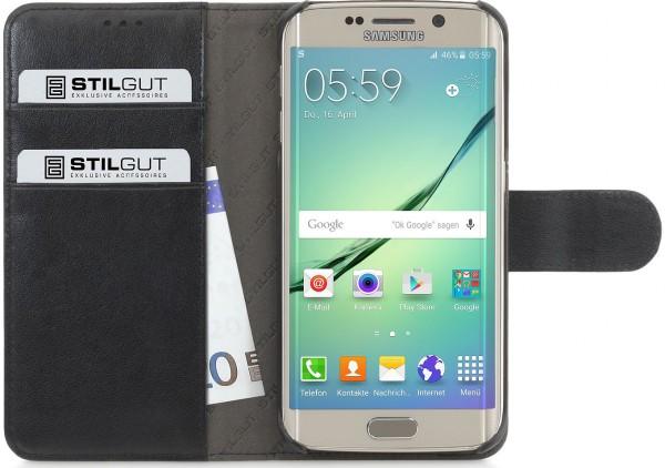 """StilGut - Handyhülle für Galaxy S6 edge """"Talis"""" mit Lasche"""