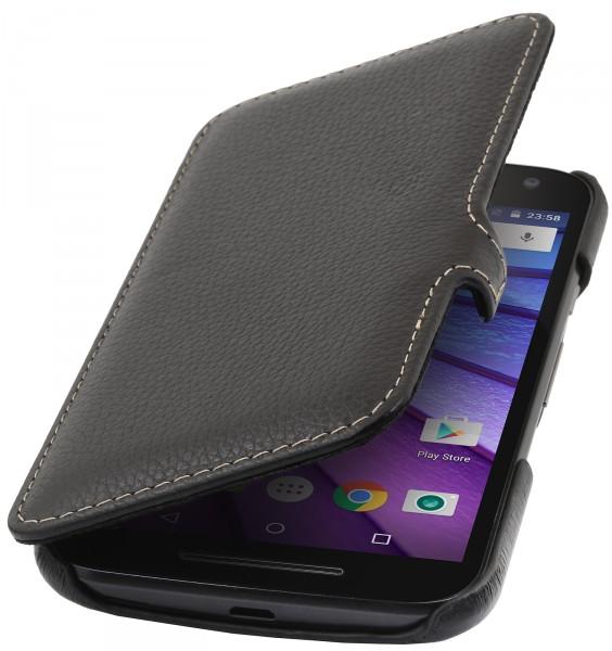 """StilGut - Handyhülle für Motorola Moto G (3. Gen.) """"Book Type"""" mit Clip"""