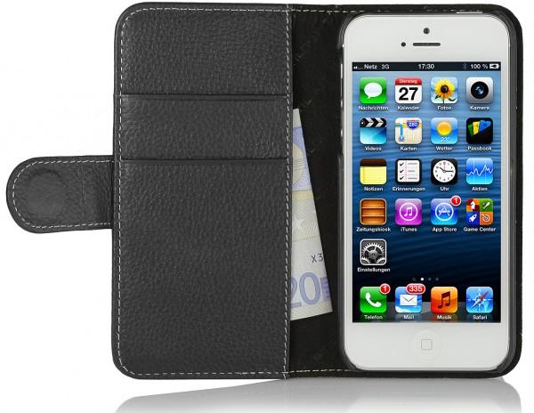StilGut - iPhone SE Hülle Talis mit Kreditkartenfach aus Leder
