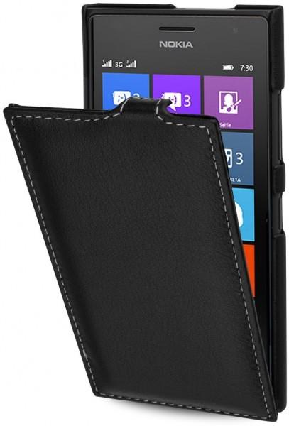 """StilGut - Handyhülle für Nokia Lumia 730 & 735 """"UltraSlim"""" aus Leder"""