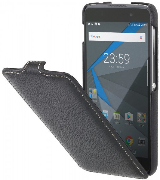 StilGut - BlackBerry DTEK50 Hülle UltraSlim aus Leder