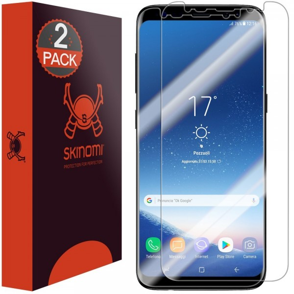 Skinomi - Displayschutzfolie Samsung Galaxy S8+ TechSkin Edge to Edge (2er Pack)