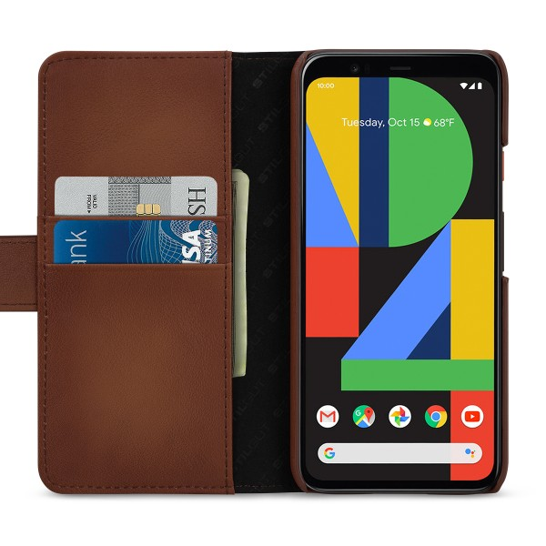StilGut - Google Pixel 4 Flip Cover Talis mit Kartenfach