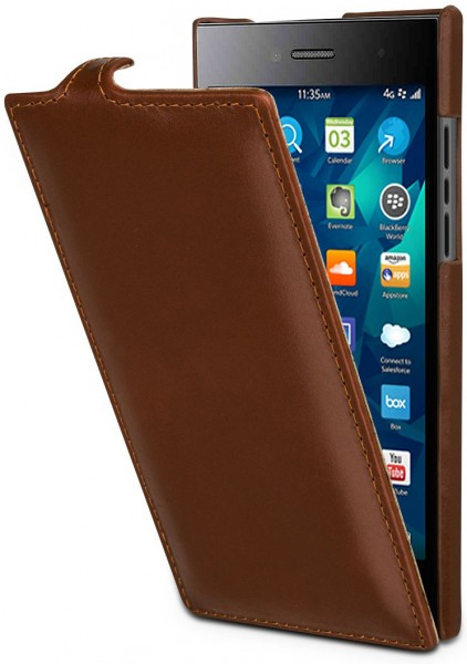 "StilGut - Handyhülle für BlackBerry Leap ""UltraSlim"" aus Leder"
