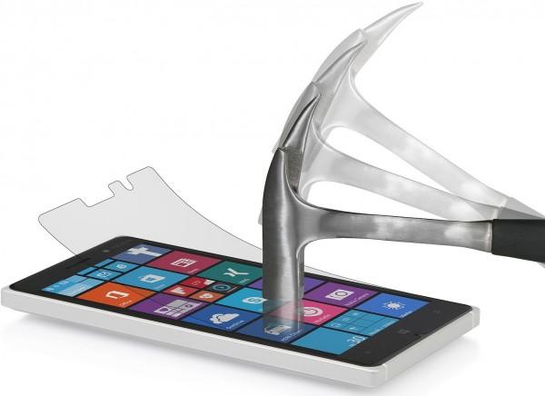 StilGut - Displayschutzfolie Panzerglas für Nokia Lumia 830 (2er-Pack)