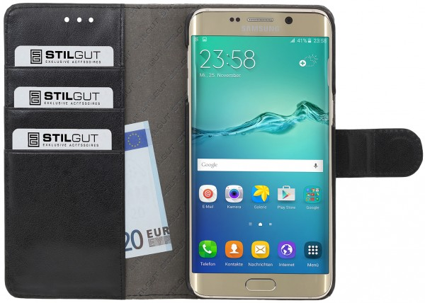 "StilGut - Galaxy S6 edge+ Hülle ""Talis"" mit Kreditkartenfach"