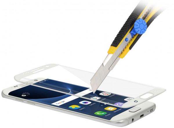 StilGut - Panzerglas 3D curved Samsung Galaxy S7 edge mit weißem Rand