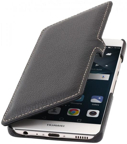 StilGut - Huawei P9 Tasche Book Type aus Leder mit Clip