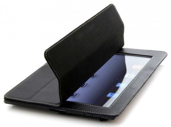 StilGut - Couverture Case V2 aus Leder für iPad 2