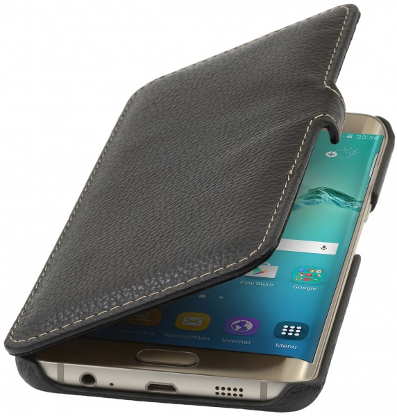 StilGut - Handyhülle für Galaxy S6 edge+ Book Type mit Clip