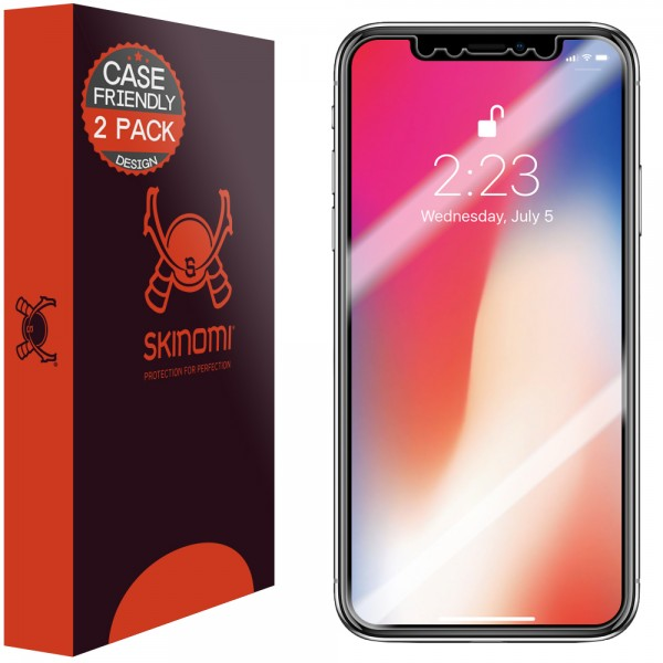 Skinomi - Displayschutzfolie iPhone X (2er Pack)