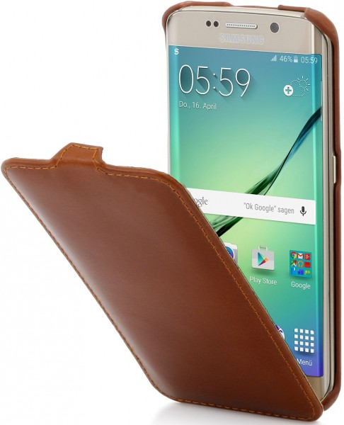 """StilGut - Handyhülle für Galaxy S6 edge """"UltraSlim"""" aus Leder"""