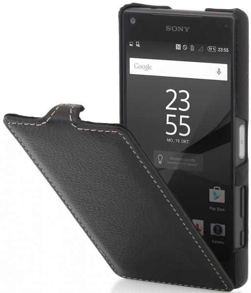 StilGut - Xperia Z5 Compact Hülle UltraSlim aus Leder