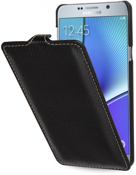 """StilGut - Handyhülle für Galaxy Note 5 """"UltraSlim"""" aus Leder"""
