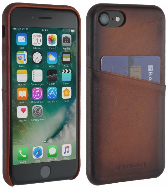 StilGut - iPhone 7 Cover mit Kartenfach
