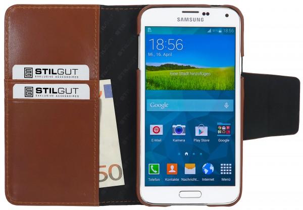 """StilGut - Ledertasche """"Talis"""" für Samsung Galaxy S5"""