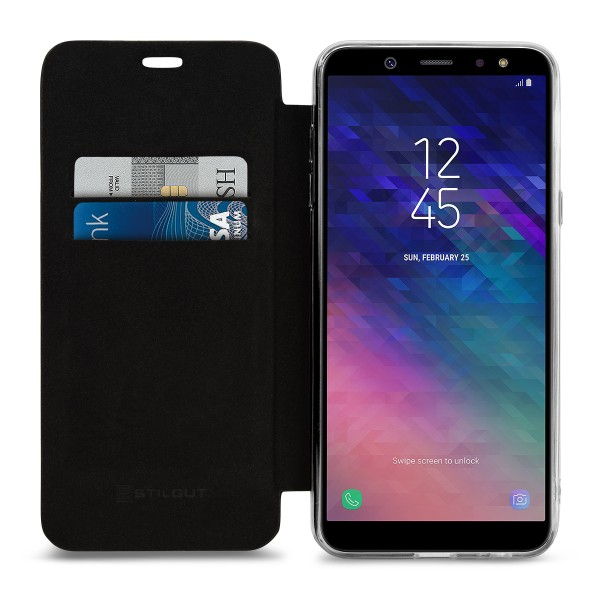 StilGut - Samsung Galaxy A6 Plus (2018) Book Type NFC/RFID Blocking Hülle