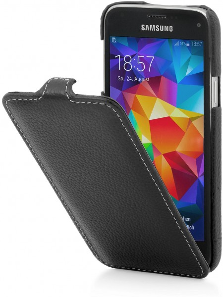 StilGut - UltraSlim Case für Samsung Galaxy S5 mini aus Leder