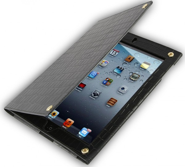 "StilGut - Ledertasche ""Croco"" für iPad 2 aus Leder"