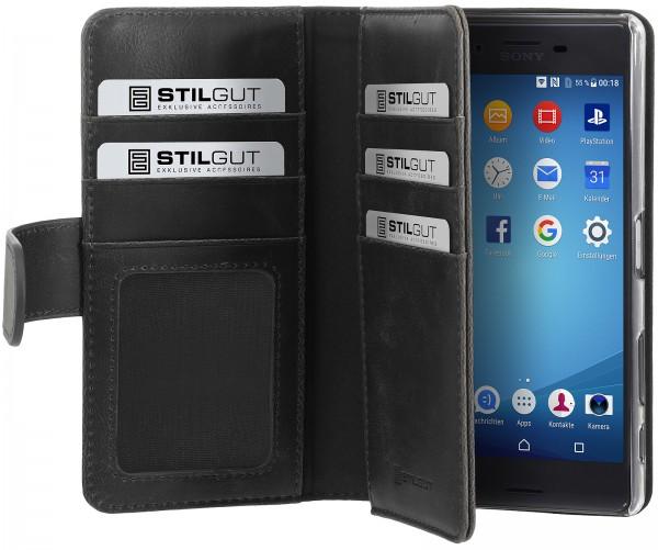 StilGut - Sony Xperia X Hülle Talis XL mit Kreditkartenfach
