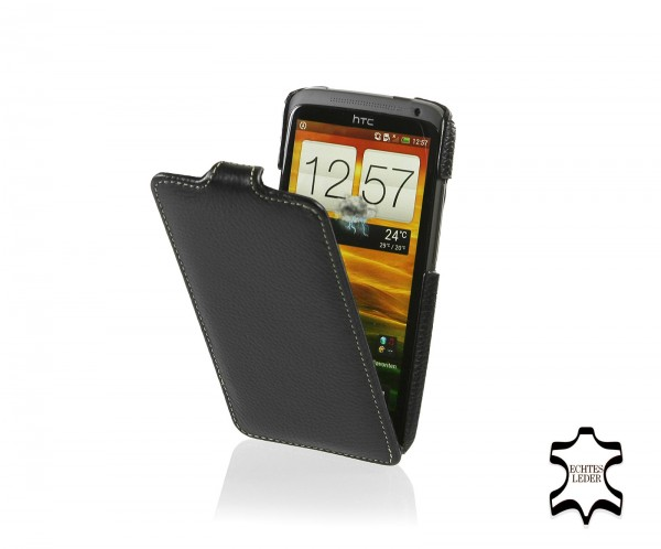 StilGut - UltraSlim Case für HTC One X aus Leder