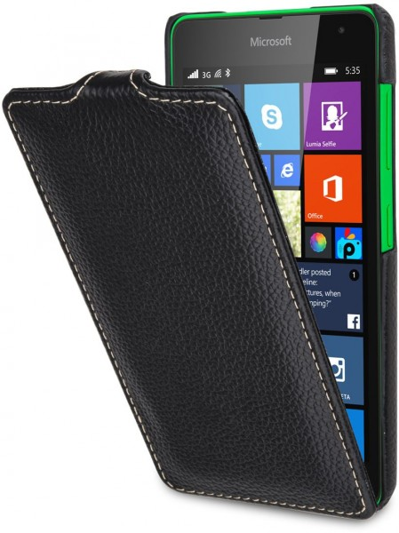 "StilGut - Handyhülle für Microsoft Lumia 535 ""UltraSlim"" aus Leder"