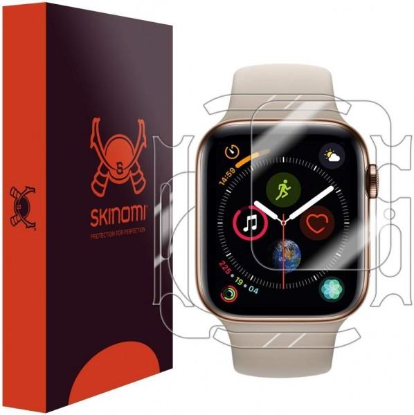 Skinomi - Apple Watch Series 5 (44 mm) Displayschutzfolie Full Body (3er Pack)