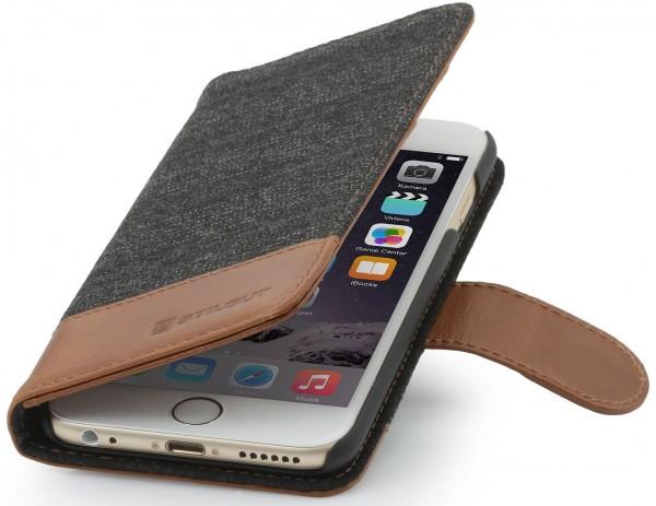 """StilGut - iPhone 6s Plus Hülle """"Talis"""" Fashion Series mit Leder"""