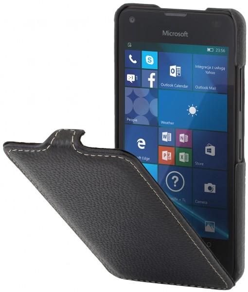 StilGut - Lumia 550 Hülle UltraSlim aus Leder
