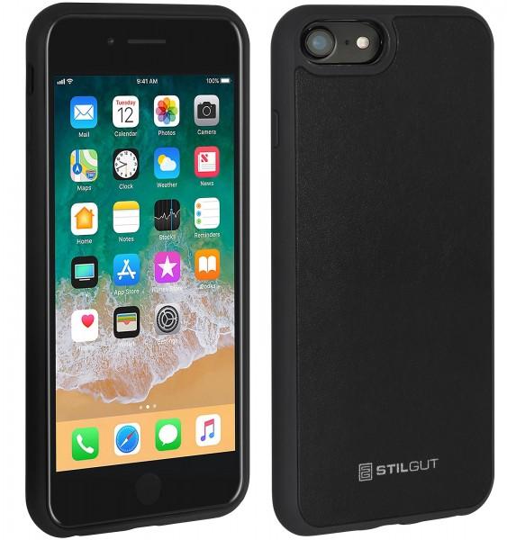 StilGut - iPhone 8 Case mit Lederrückseite