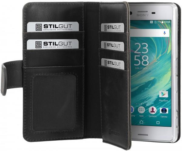 StilGut - Sony Xperia X Performance Hülle Talis XL mit Kreditkartenfach
