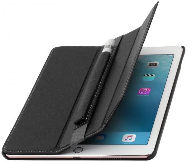 """StilGut - iPad Pro 9.7"""" Hülle Couverture aus Leder mit Pencil-Halter"""