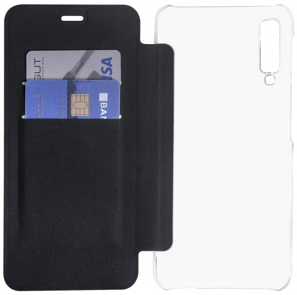StilGut - Samsung Galaxy A7 (2018) Book Type NFC/RFID Blocking Hülle