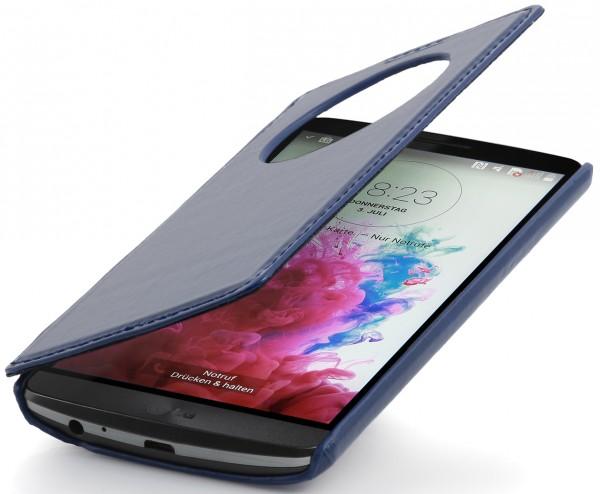 """StilGut - Ledertasche """"Book Type"""" V2 mit Sichtfenster für LG G3"""