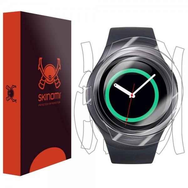 Skinomi - Displayschutzfolie Samsung Gear S2 TechSkin Vorder- und Rückseite