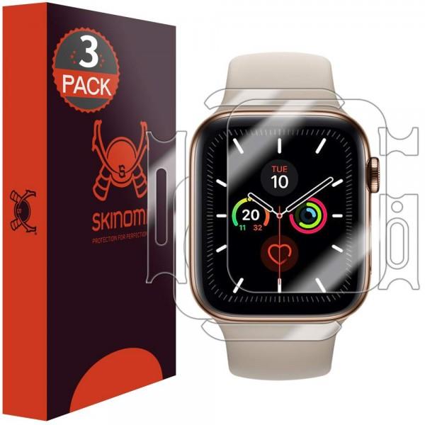 Skinomi - Apple Watch Series 5 (40 mm) Displayschutzfolie Full Body (3er Pack)