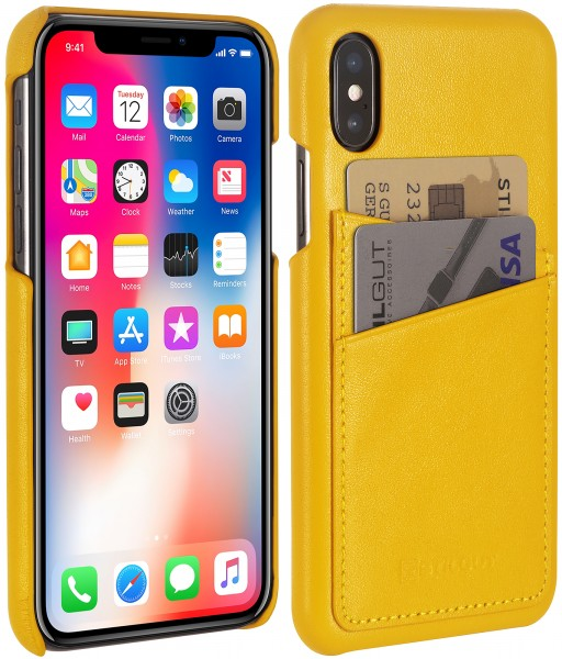 StilGut - iPhone XS Cover mit Kartenfach