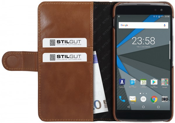 StilGut - BlackBerry DTEK60 Hülle Talis mit Kreditkartenfach