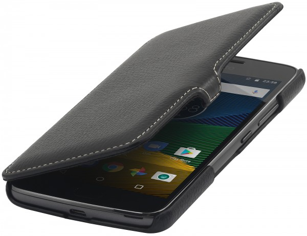 StilGut - Moto G5 Tasche Book Type mit Clip