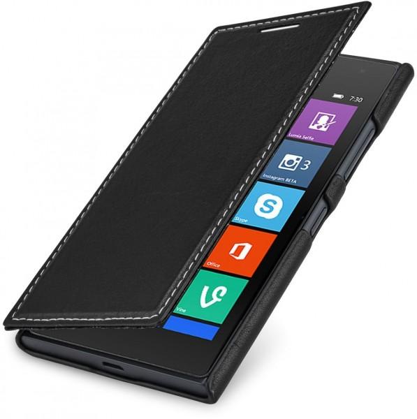 """StilGut - Handyhülle für Nokia Lumia 730 & 735 """"Book Type"""" aus Leder"""