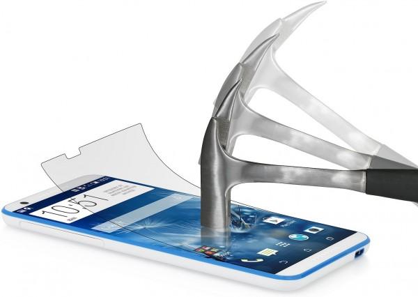 StilGut - Displayschutzfolie Panzerglas für HTC Desire 820 (2er-Pack)
